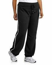 RAINBEAU WOMEN'S PLUS SIZE TRACK LOUNGE PANTS BANDED BOTTOM SIDE STRIPE NEW