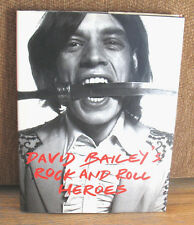 SIGNED David Bailey Rock and Roll Heroes Rolling Stones Mick Jagger Beatles HC