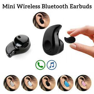 Mini Wireless Bluetooth Single Earbud Headset Headphones In-Ear Stereo Earphone
