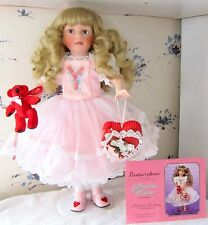 "16"" Precious Kisses Valentine Porcelain Doll Paradise Galleries Linda Mason COA"