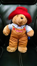 "Paddington 15"" Bear Vintage Sears Craftsman Plush Brown Overalls Plush Hammer"