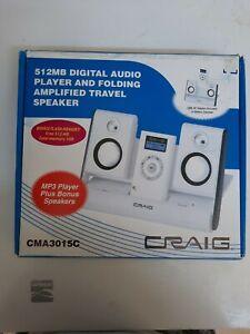 512MB Digital Audio Player And Folding Amplified Travel Speaker: CMA3015C Craig