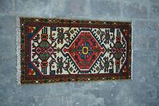 ANTIQUE HAND KNOTTED CAUCASIAN RUG / TRIBAL HAND KNOTTED OLD RUG / BOHEMIAN RUG