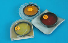 SET OF 3 43mm FILTERS - RED, ORANGE, YELLOW