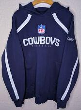 REEBOK Dallas Cowboys NFL Sideline Hooded Sweatshirt Hoodie Mens XL Blue