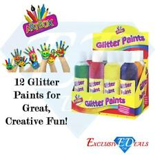 Artbox Glitter Paints Creative Fun Arts & Crafts Assorted Colours 200ml x 12