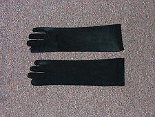 Long Black Child Costume Gloves