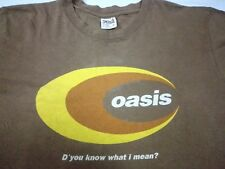 VTG 90s OASIS D'You Know What I Mean? T SHIRT BRITPOP SUEDE BLUR STONE ROSES