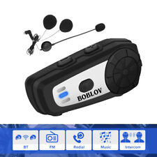 M6 Motorbike Riders BT5.0 Helmet Headset Interphone FM Radio Speaker Handsfree