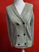 Vintage Perrie Ellen Women's Size Small Green Cardigan Sweater