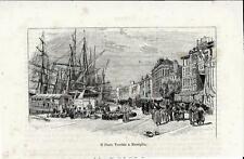 Stampa antica MARSEILLE porto vecchio MARSIGLIA 1892 Ancien Gravure Old Print