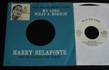 Harry Belafonte-Oh Freedom-RARE 1960 US PROMO 45 & Picture Sleeve!