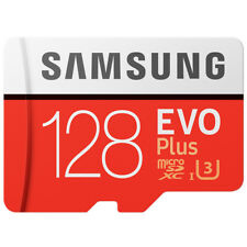 Samsung EVO+ 128GB Micro SD SDXC Flash Memory Card R 100MB/s W 90MB/s 4K Class10