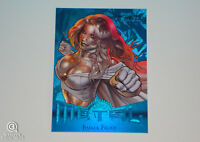 2013 Marvel Fleer Retro Emma Frost Blue PMG Precious Metal Gems Card Xmen 12/50