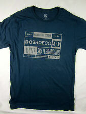 DC Shoes Skate boards short sleeve Heather Blue t shirt men's size MEDIUM