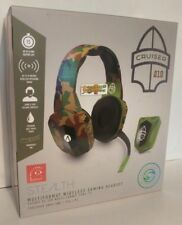 XP-Cruiser Wireless Stereo Gaming Headset GREEN Camo PS4 Xbox One PC NEW SEALED