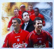 Futera Liverpool Treble Winners XL Gold Centre Piece 2001 Steven Gerrard Rookie