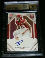 1/1 RC AUTO MARCUS PETERS BGS 9.5/10 *PINK ROOKIE 1/10 *2015 Panini Crown Royale