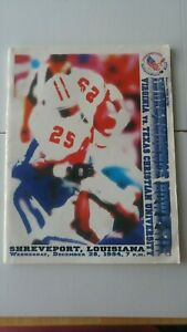UVA vs TCU 1974 Independence Bowl Program Barber Farrior Sharper. Robbins
