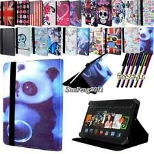 """For Amazon Kindle Fire 6"""" 7"""" 8.9"""" Tablet FOLIO LEATHER STAND CASE COVER +Stylus"""