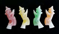 1960,s Wax penny nip candy Halloween witch vintage set of 4 different colors