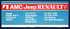 Prospekt brochure 1982 AMC Jeep Renault Programm (USA)