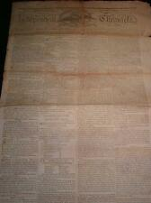 "Antique NEWSPAPER ""Independent Chronicle"" c1805, United States, Printed by Adams"