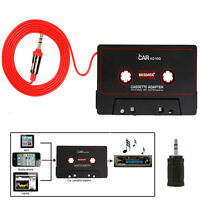 Audio AUX Car Cassette Tape Adapter Converter 3.5 MM for iPhone iPod MP3 CD LO