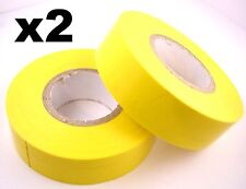 2x 20m Rolls of High Quality PVC Insulation Tape YELLOW