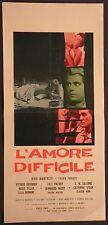 Locandina L'AMORE DIFFICILE 1963 MANFREDI, GASSMAN, SOLLIMA, SPAAK, MORI