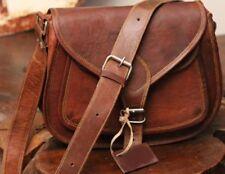 Women Vintage Brown Leather Messenger Cross Body Bag Handmade Purse Nice