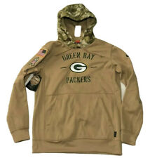Nike Green Bay Packers Salute to Service Therma Hoodie Mens M Khaki AT6731-297