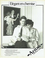 Publicité Advertising 088  1981  chemise homme Golden Arrow