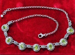 JGD Janice Girardi Sterling Silver & Peridot Balinese Necklace Silpada Designer