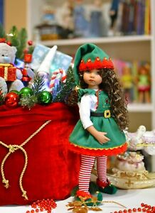 dianna effner, outfit for dolls, little darling, Cristmas Elf outfit