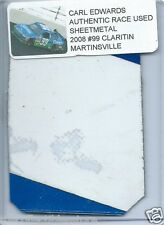 CARL EDWARDS 2008 CLARITIN MARTINSVILLE AUTHENTIC NASCAR RACE USED SHEETMETAL #3