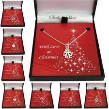 Navidad Collares para Mujer Y de Chica, 925 de Ley Plata Navidad Regalos