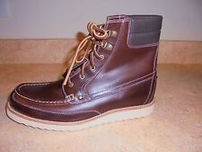 J CREW WALLACE & AND BARNES BYRD BOOTS  SIZE-11.5 STYLE#B3633 HAVANA BROWN