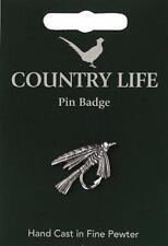 Fishing Fly Pewter Lapel Pin Badge