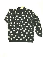 Urban Outfitters Vintage Renewal Black White Spotted Jumper UK10-12