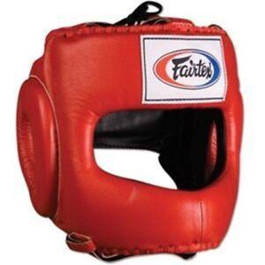 NEW! Fairtex Full Face Headgear - HG4 - Red - Muay Thai Kickboxing, MMA, UFC