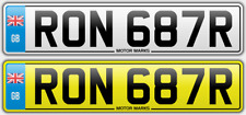RON Numero Reg Piastra-RON 687r-RON Ronald RONNIE RONNY RONSON Ronan REG numero