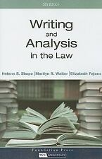 Writing and Analysis in the Law, Elizabeth Fajans, Marilyn R. Walter, Helene S.