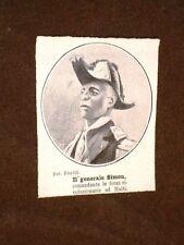 Il Generale Simon nel 1908 Al comando delle forze della rivoluzione in Haiti