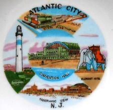 "Decorative Collector 5"" Plate - ATLANTIC CITY N. J. - Steel Pier, Elephant Hotel"