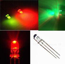 25 pz diodi LED BICOLORE rosso verde 3 mm CATODO COMUNE con resistenze