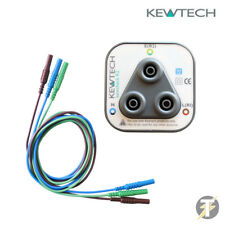 Kewcheck R2 Anillo Red Tester de Enchufes más LDM202 Test Cables para Kewtech