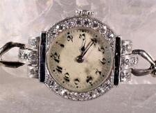 Vintage Ed Koehn Platinum & Gold Ladies Watch Accented by Diamonds & Sapphires