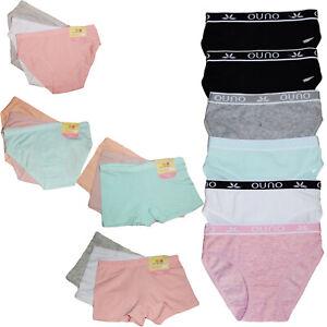 6 stück Mädchen Unterhose Schlüpfer Slips oder Boxershorts Basic 98-152