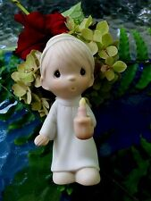 Precious Moments The First Noel Boy Angel Holding Candle Complete with Box E2365